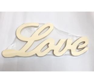 מילות השראה מעץ - גדול LOVE