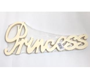 מילות השראה מעץ - גדול PRINCESS