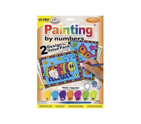 ערכת ציור עם 2 ציורים - פרפר וזחל