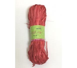 רפיה צבעונית 50 גרם - אדום