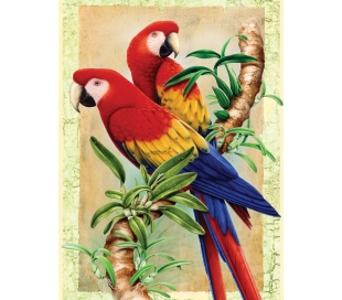 ערכת ציור לילדים - ציפורים בבמבוק