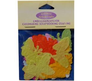פרפרים צבעוניים מנייר עיצוב 50 יח
