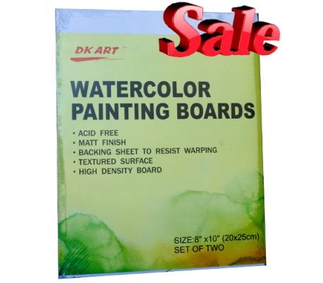 מארז 2 לוחות קשיחים לציור בצבעי מים