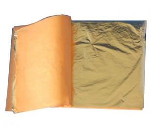 מארז 25 דפי זהב חלקים דקים ליצירות