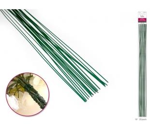 מוטות מתכתיים ירוקים ליצירה ושיזור פרחים - עבה