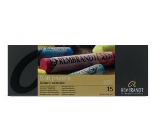 סט 15 צבעי פסטל רכים ומקצועיים רמברנדט