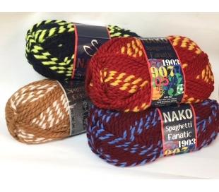 צמר נאקו ספגטי אפקט צבעוני במבחר גוונים