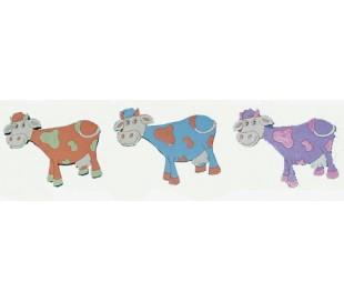 חיתוכי לייזר צבעוניים - 3 פרות