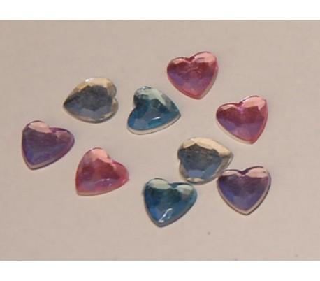 אבני שיבוץ לבבות קטנים 50 יח