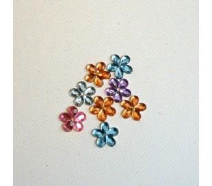 אבני שיבוץ פרחים קטנים 30 יח