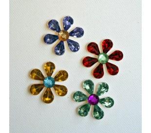 אבני שיבוץ פרחים 2 צבעים 10 יח