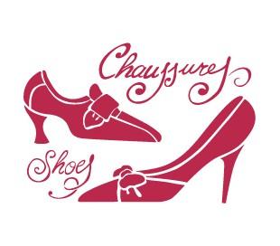 """שבלונות - נעלי אישה 15 * 20 ס""""מ"""
