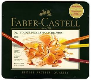 סט עפרונות מקצועיים פוליכרומוס פאבר קאסטל ב 4 גדלים