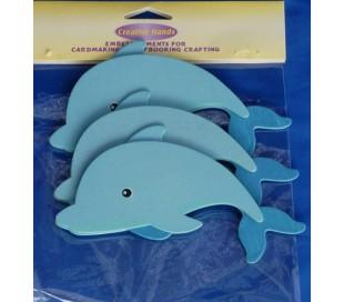 חיתוכי עץ גדולים - דולפין 3 יח'