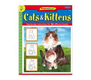 ספרות ילדים ללימוד ציור - חתולים
