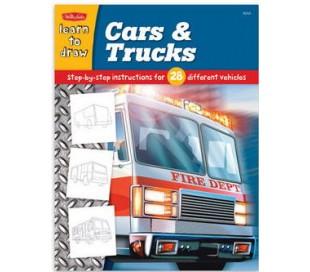 ספרות ילדים ללימוד ציור - מכוניות ומשאיות