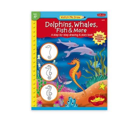 ספרות ילדים ללימוד ציור - דולפינים ולויתנים