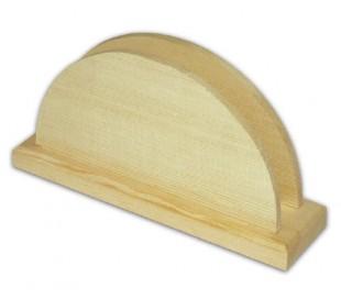 מתקן מעץ אורן למפיות - חצי עיגול