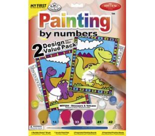 ערכת ציור עם 2 ציורים - דינוזאורים