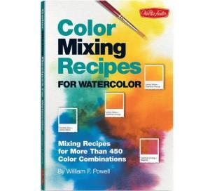 ספר מתכונים לערבוב צבעים ויצירת גוונים - צבעי מים
