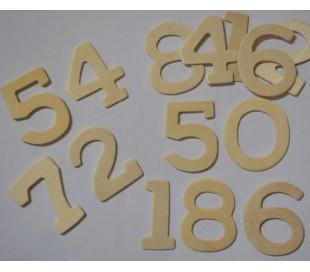 מספרים מעץ ליצירה במארז 10 יח