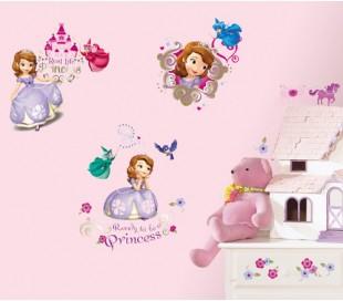 מדבקות קיר סופיה הנסיכה הקטנה