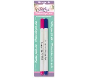 זוג עטים מתאיידים לציור על משי