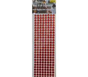 מדבקות אבני קריסטל אקרילי מבריקות - אדום