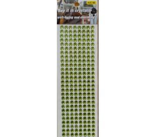 מדבקות אבני קריסטל אקרילי מבריקות - ירוק