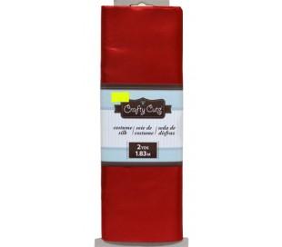 בד משי אדום מבריק 145*180 סמ