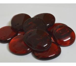 אבני זכוכית - נגצים גדולים אדום שקוף 200 גרם