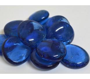 אבני זכוכית נגצים גדולים כחול בהיר שקוף 200 גרם
