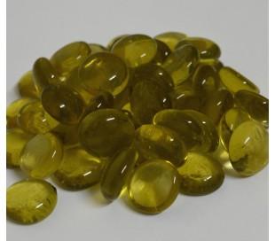 אבני זכוכית נגצים קטנים צהוב שקוף 200 גרם