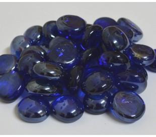 אבני זכוכית נגצים קטנים כחול שקוף 200 גרם