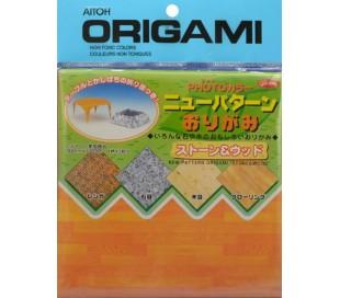 אוריגמי מקצועי מיפן במראה עץ ואבן