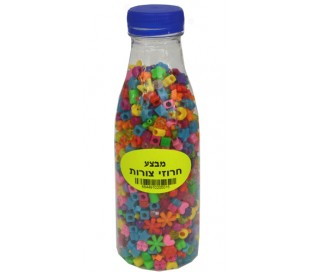 בקבוק חרוזי צורות מעורב צבעים