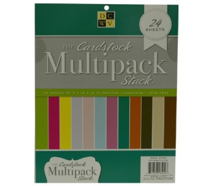 בלוק קארדסטוק A4 דו צדדי 24 דף 12 צבעים חלקים