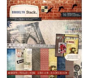 בלוק 48 ניירות קארדסטוק לעיצוב 30X30 ברוקלין