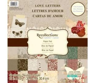 בלוק 48 ניירות קארדסטוק לעיצוב 30X30 מכתבי אהבה