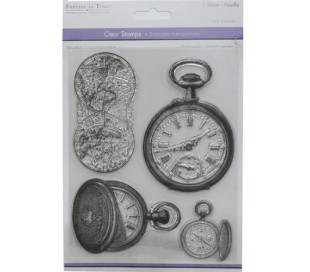 סט חותמות סיליקון גדול - וינטאג' שעונים