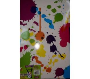 סול A3 מודפס ליצירה - התזות צבע