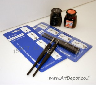 עט ציפורן - סט של 2 עטים עם 4 ראשים