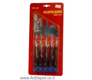כלים לציור - סט 5 שפכטל ציור מקצועי