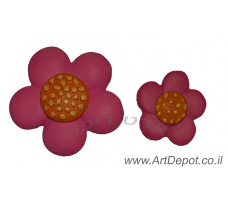 ידיות מעוצבות לארונות ילדים פרח ורוד