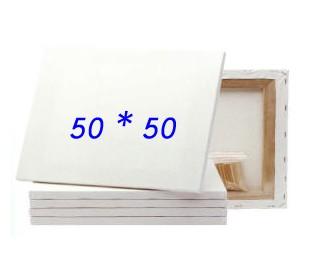 מארז 10 יח' קנבס לציור על מסגרת עץ 50*50 סמ