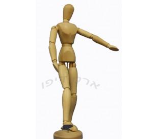 בובות מנקין מעץ - דמות אדם 30 סמ