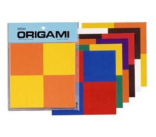 אוריגמי - ריבועים בשני צבעים
