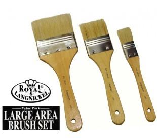מברשות לצבע - סט 3 שיער בריסטל קשיח במיוחד