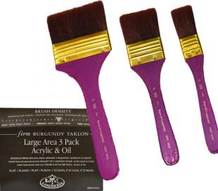 מברשות צבע איכותיות - סט 3 עם קשיחות שיער גבוהה