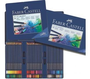 סט עפרונות אקוורל מקצועיים פאבר-קסטל ב 4 גדלים